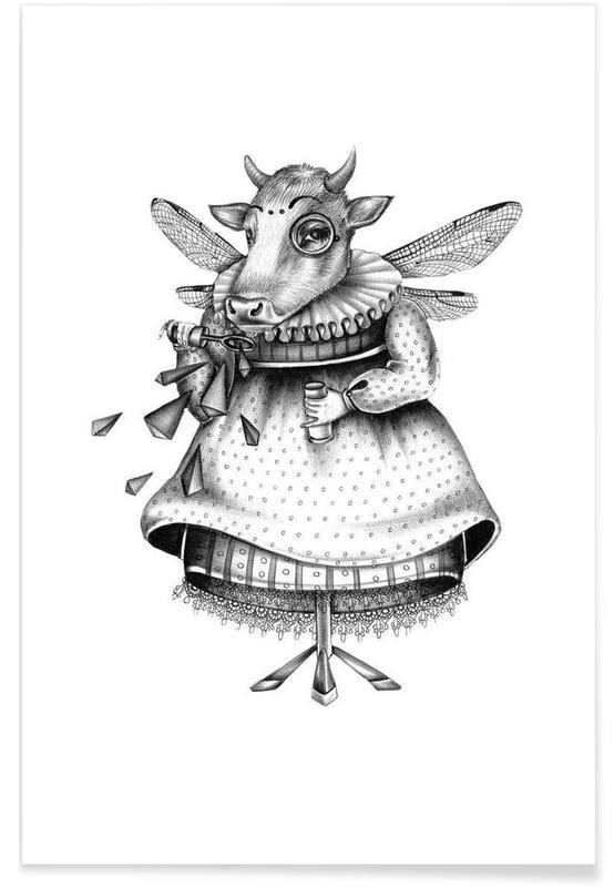 Noir & blanc, Créatures et hybrides, Cow affiche