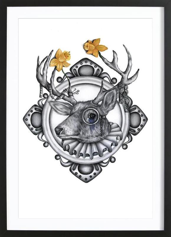 Deer ingelijste print