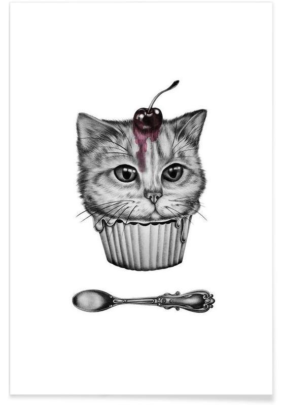 Noir & blanc, Cupcat affiche