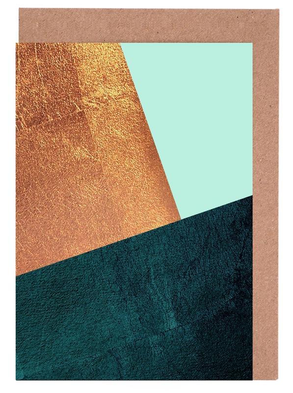 , Kupfer Aqua Greeting Card Set