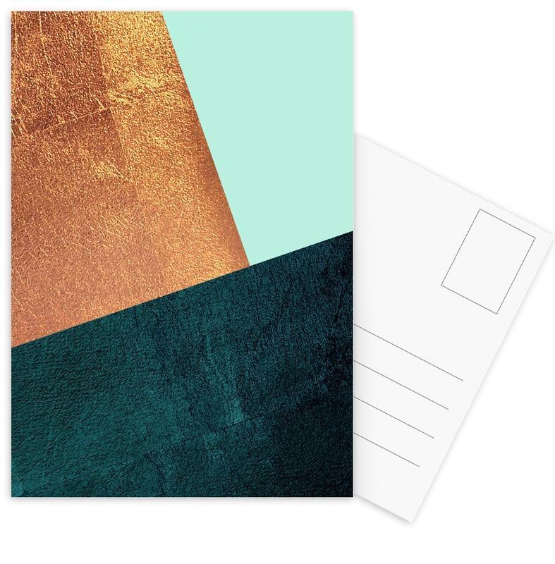 Kupfer Aqua Postcard Set