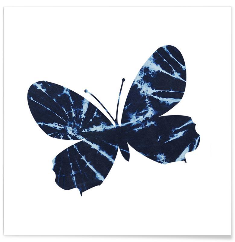 Vlinders, Batik Butterfly poster