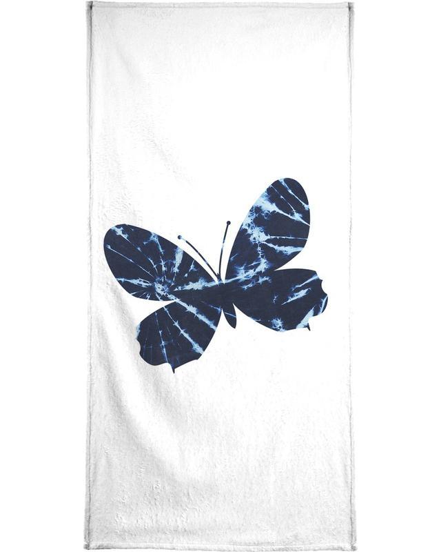 Batik Butterfly Bath Towel