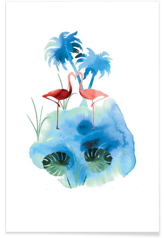 Flamingos, Flamingo Blues -Poster