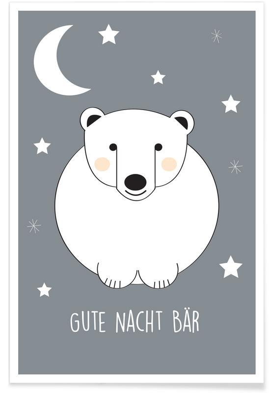 Kunst voor kinderen, Gute Nacht Bär poster