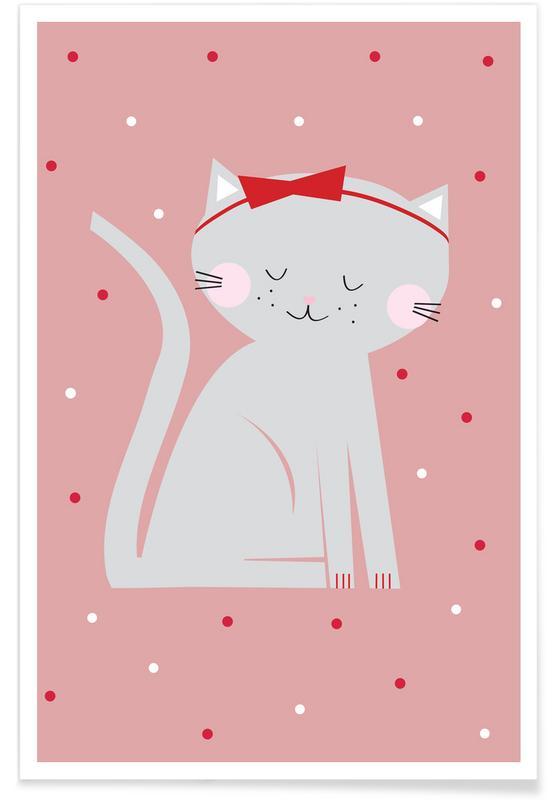 Kunst voor kinderen, Red Beauty Cat poster