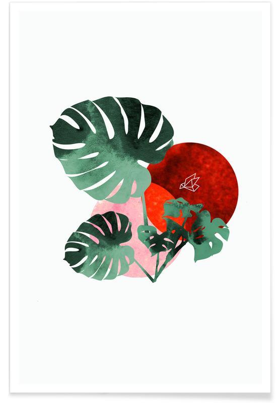 Bladeren en planten, Tropical Red poster
