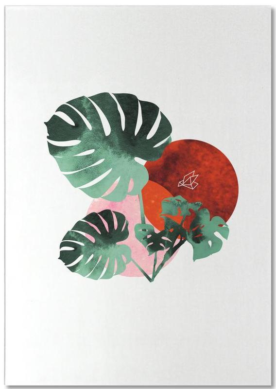 Feuilles & Plantes, Tropical Red bloc-notes