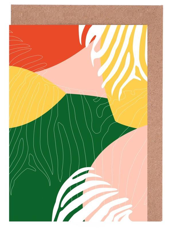 Blätter & Pflanzen, Jungle Orange -Grußkarten-Set