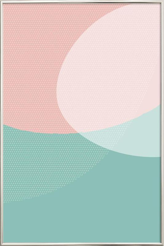Soft Shapes Poster in Aluminium Frame