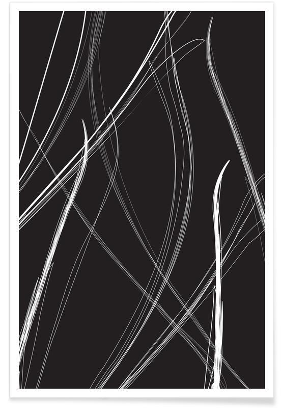 Zwart en wit, Trails poster