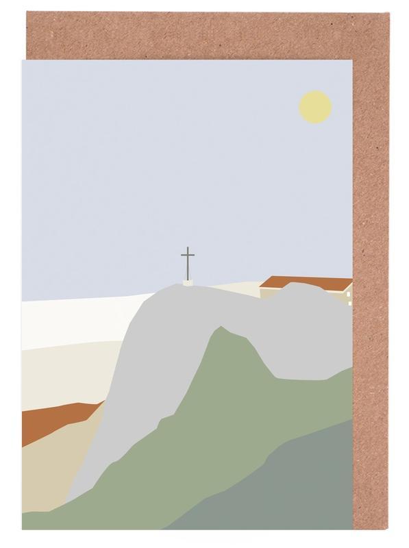 Bergen, Abstracte landschappen, Hochfelln Mountain View wenskaartenset