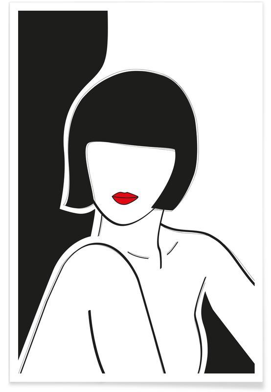 Citations d'amour, Pop Art, Portraits, Secret Lady affiche