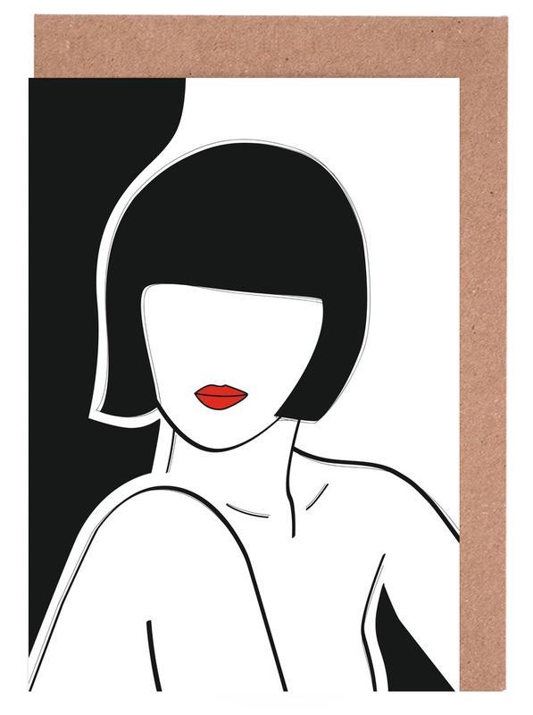 Portretten, Liefdescitaten, Popart, Secret Lady wenskaartenset