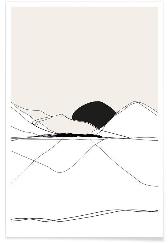 , Mountain Line art -Poster