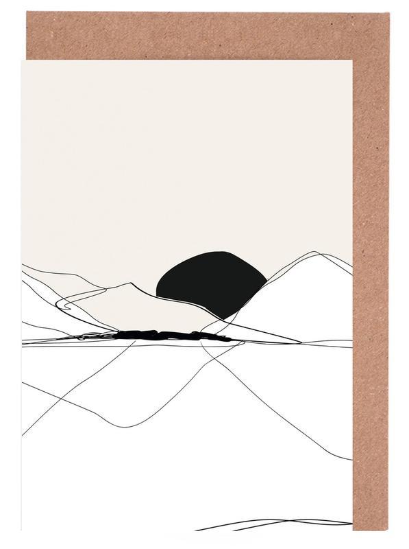 , Mountain Line art wenskaartenset