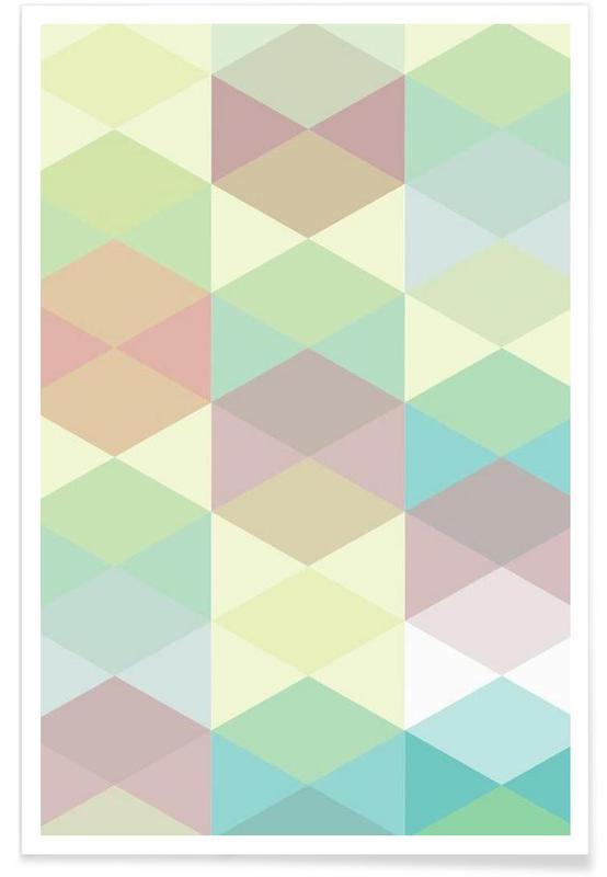 Motifs, Melitta Pastell Geometrik affiche