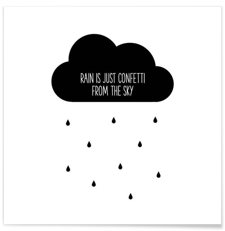 Noir & blanc, Motivation, Confetti affiche