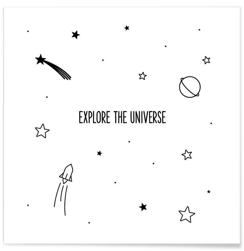 Black & White, Quotes & Slogans, Universe Poster