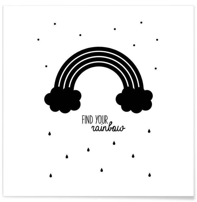 Noir & blanc, Motivation, Rainbow affiche