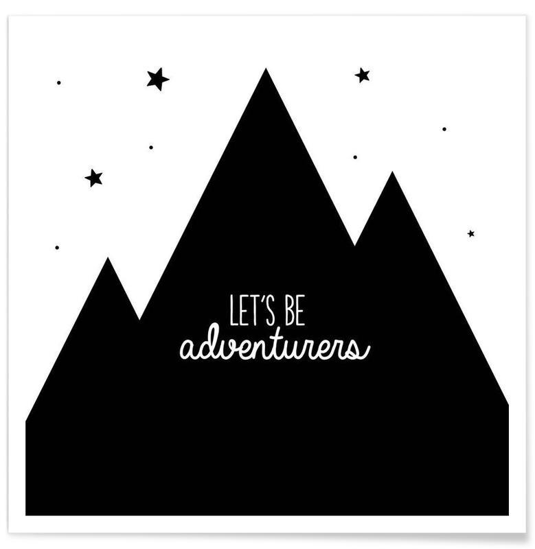 Noir & blanc, Motivation, Adventurers affiche