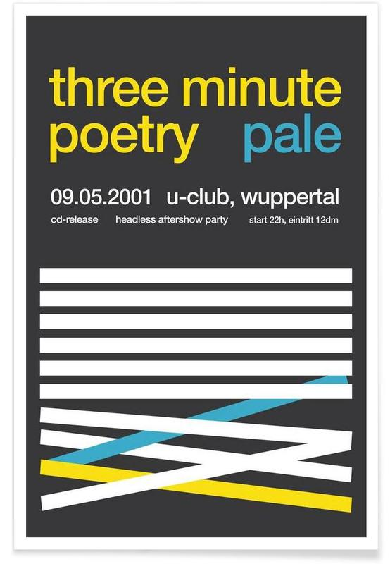 , Three Minute Poetry & Pale affiche