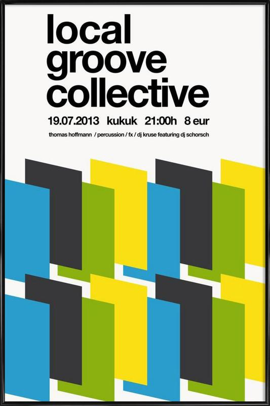 Local Groove Collective Framed Poster