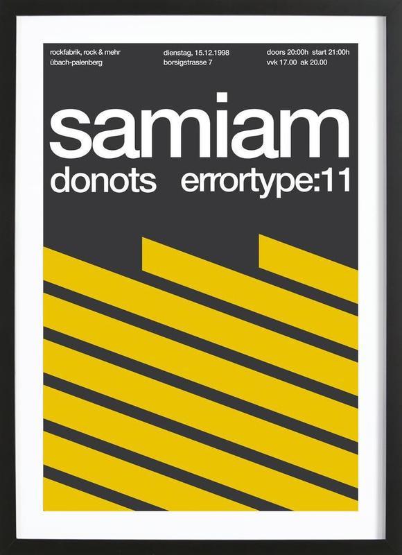 Samiam / Donots -Bild mit Holzrahmen