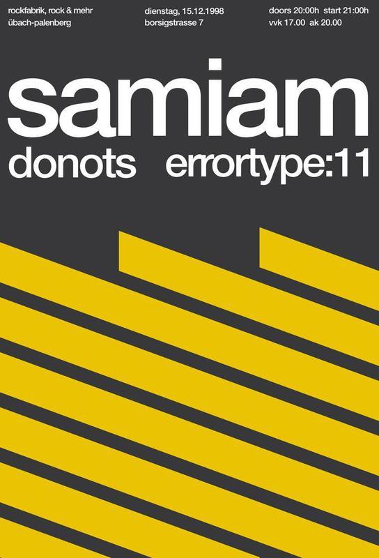 Samiam / Donots -Acrylglasbild