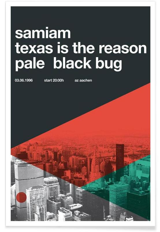 , Samiam & Texas Is The Reason affiche