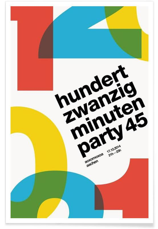 120 Minuten Party Finale -Poster