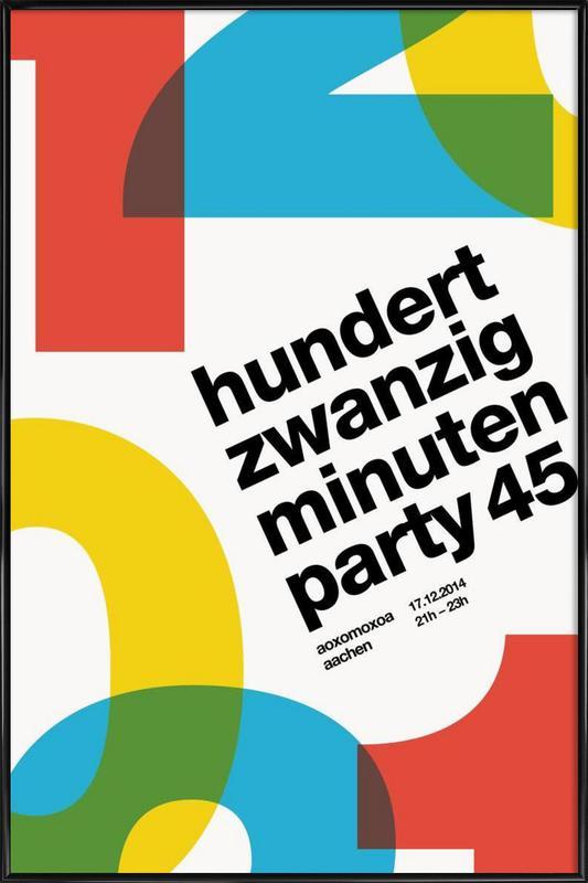 120 Minuten Party Finale Framed Poster