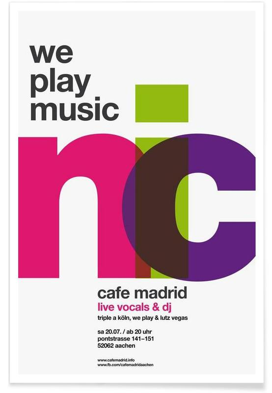 , We Play Music affiche