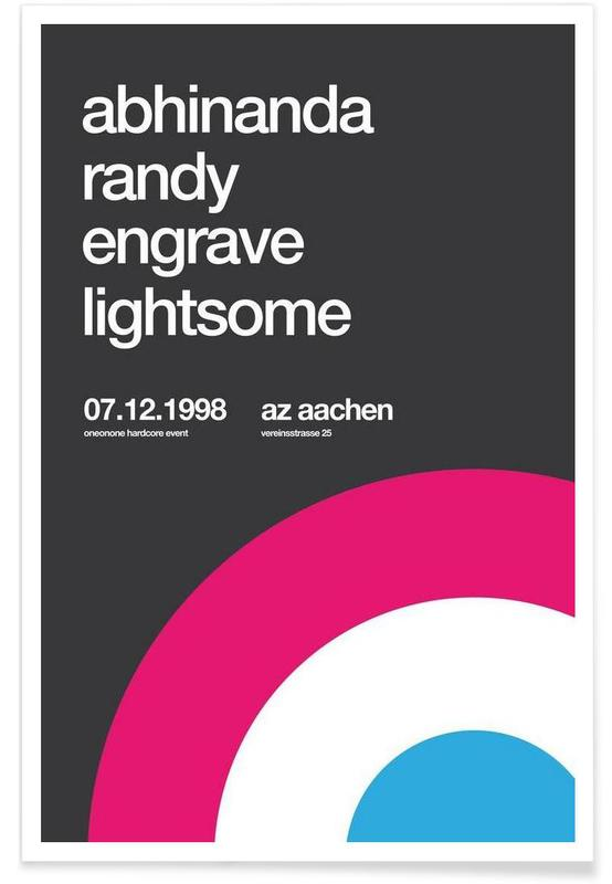 Abhinanda, Randy, Engrave Poster