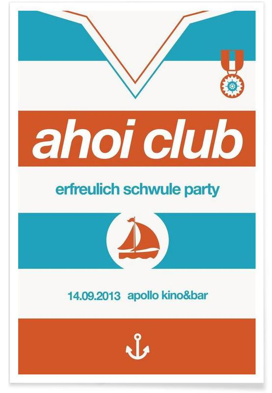 Ahoi Club - Queer Party Poster