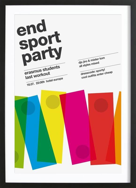 Endsport Party ingelijste print