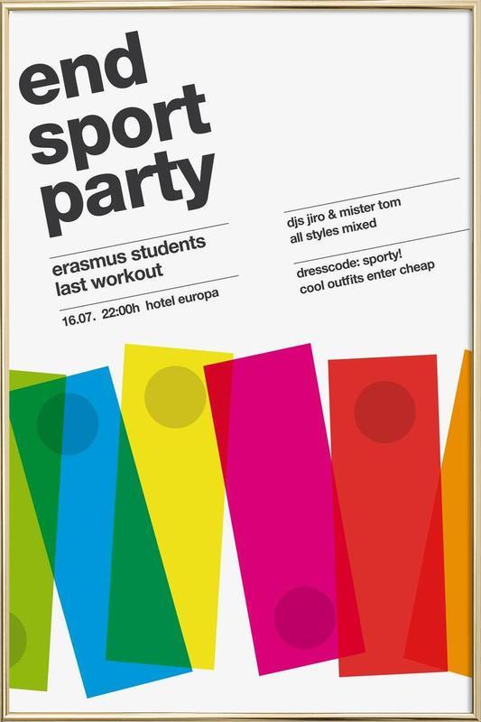 Endsport Party poster in aluminium lijst