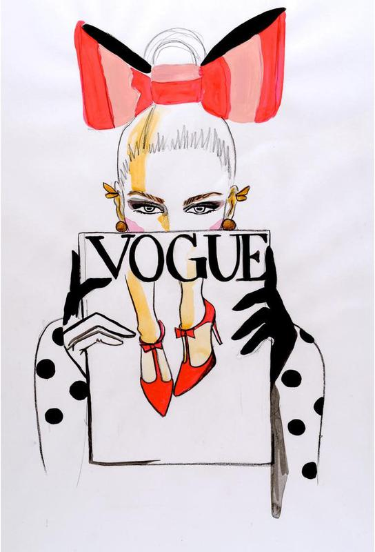 Vogue Magazine Aluminium Print