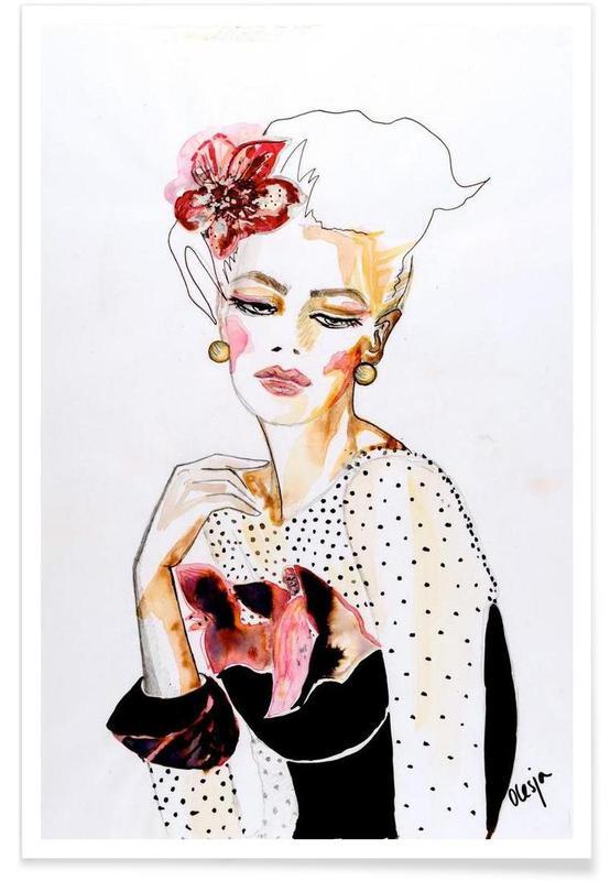Illustrations de mode, Orchid affiche