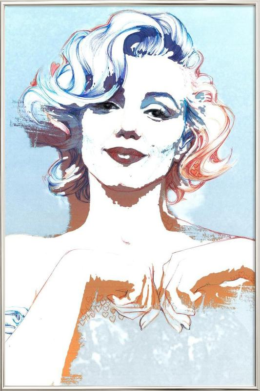 Marilyn -Poster im Alurahmen