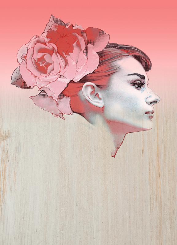 Audrey III -Leinwandbild