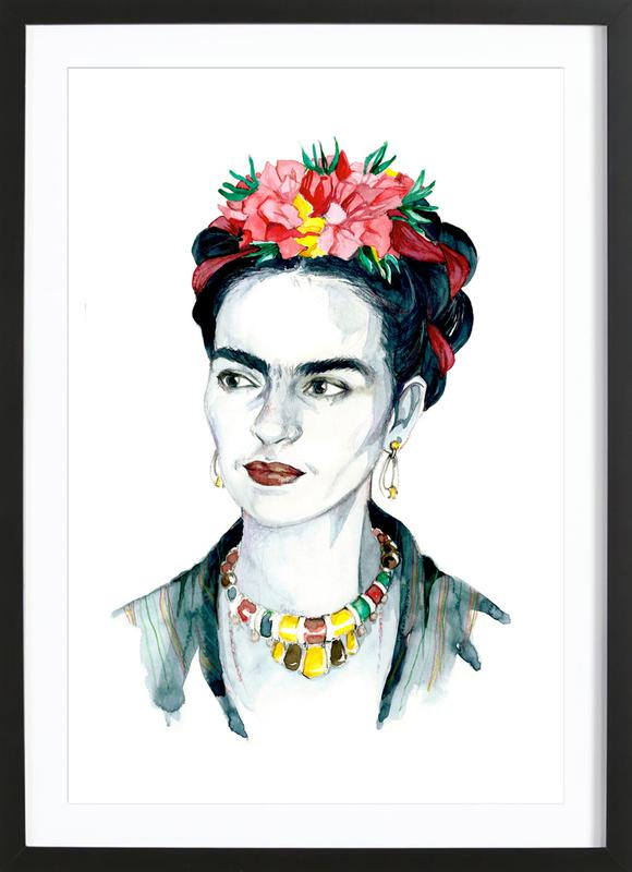 Frida Kahlo -Bild mit Holzrahmen