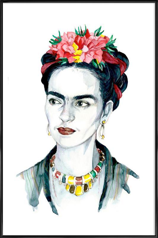 Frida Kahlo -Bild mit Kunststoffrahmen