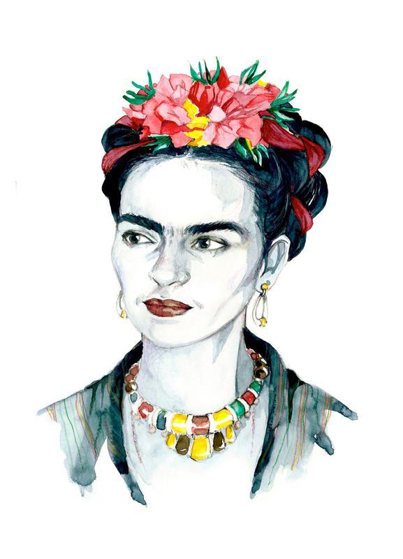Frida Kahlo canvas doek