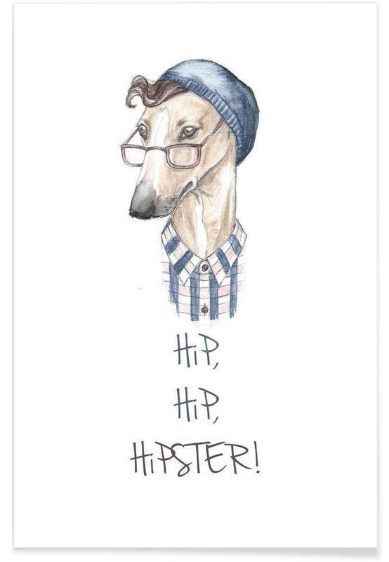 Chiens, Hipster affiche