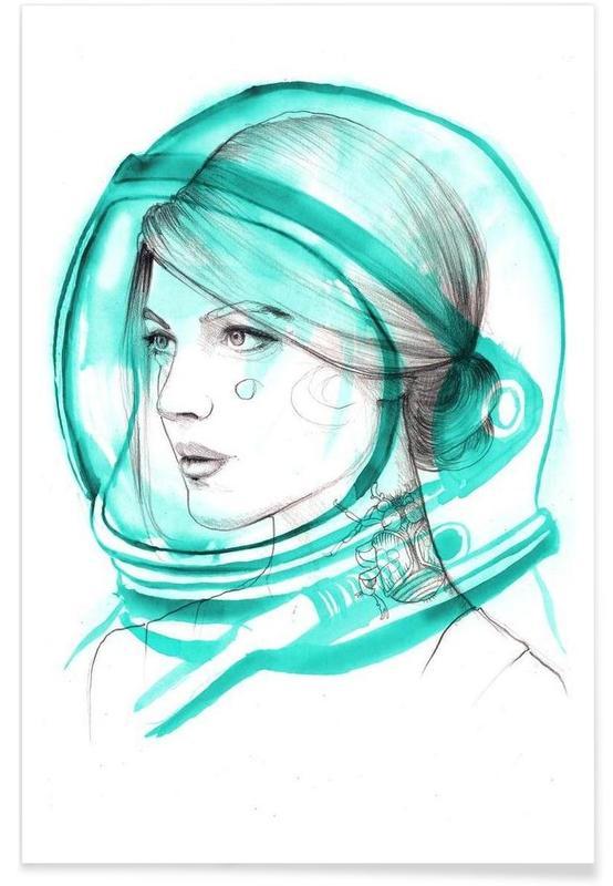 Astronautes, Portraits, Astronaut affiche