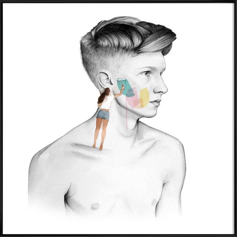 Paint Me -Bild mit Kunststoffrahmen