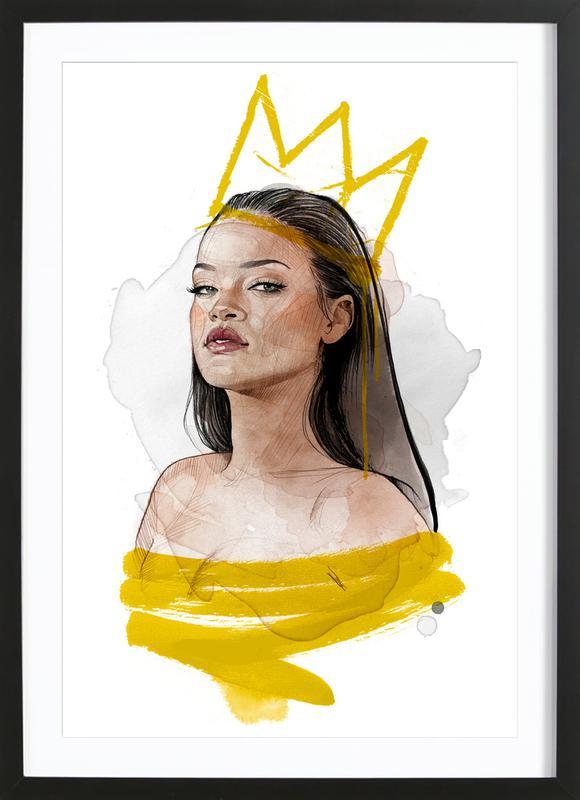 Rihanna -Bild mit Holzrahmen