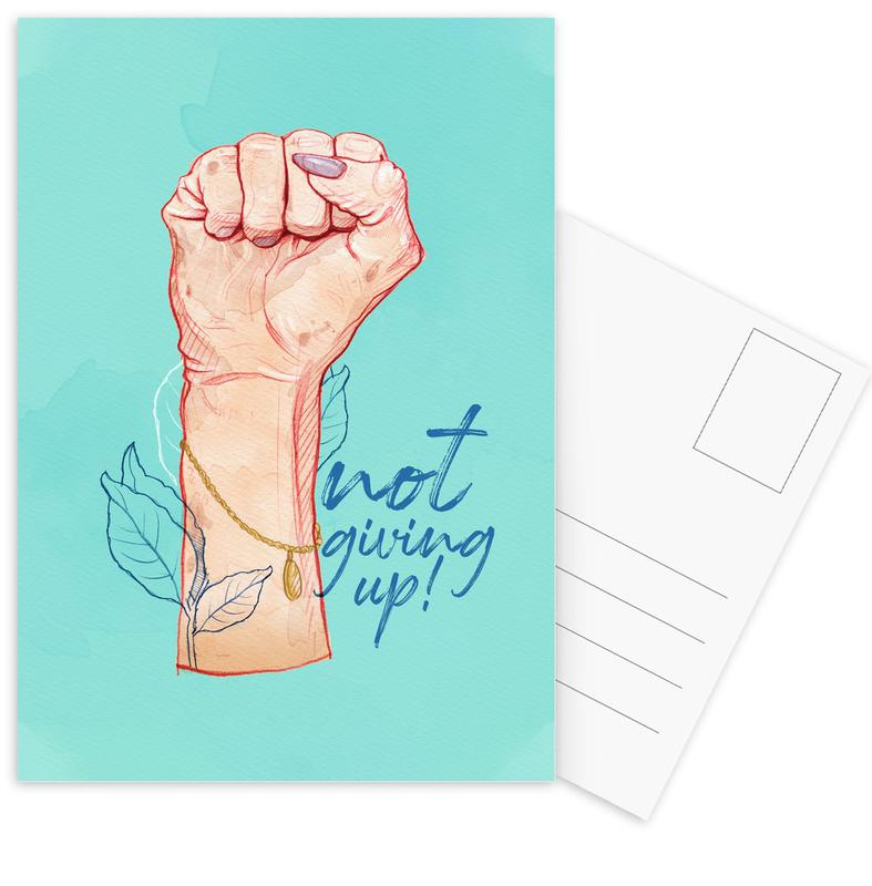 Not Giving Up Postcard Set