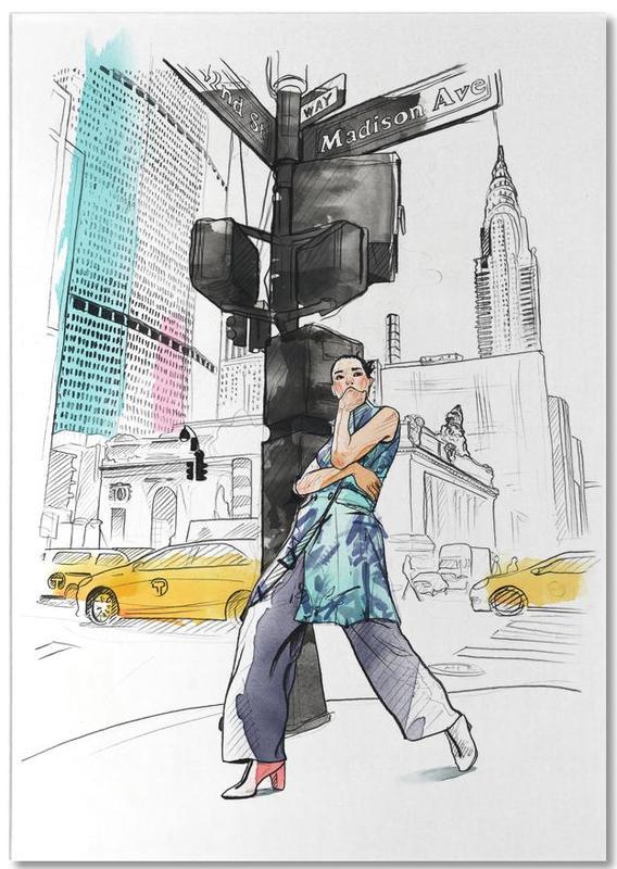 New York, Illustrations de mode, NY bloc-notes